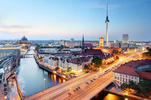 Berlin skyline Wall Mural Wallpaper - Canvas Art Rocks - 1