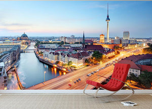 Berlin skyline Wall Mural Wallpaper - Canvas Art Rocks - 2