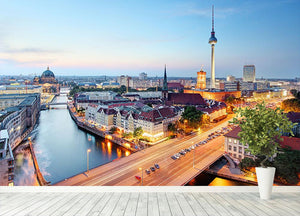 Berlin skyline Wall Mural Wallpaper - Canvas Art Rocks - 4