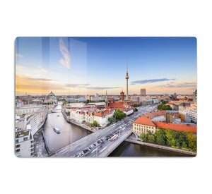 Berlin skyline on the Spree River HD Metal Print