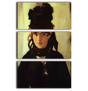 Berthe Morisot by Manet 3 Split Panel Canvas Print - Canvas Art Rocks - 1