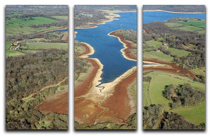 Bewl Water 3 Split Panel Canvas Print - Canvas Art Rocks - 1