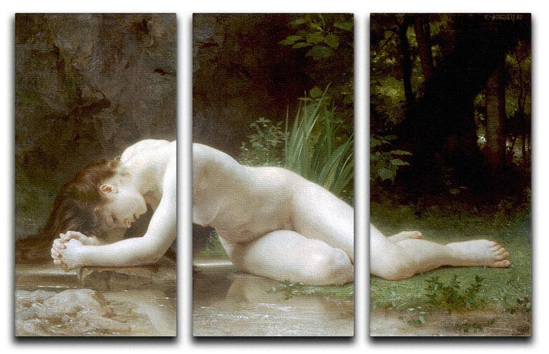 Biblis By Bouguereau 3 Split Panel Canvas Print - Canvas Art Rocks - 1