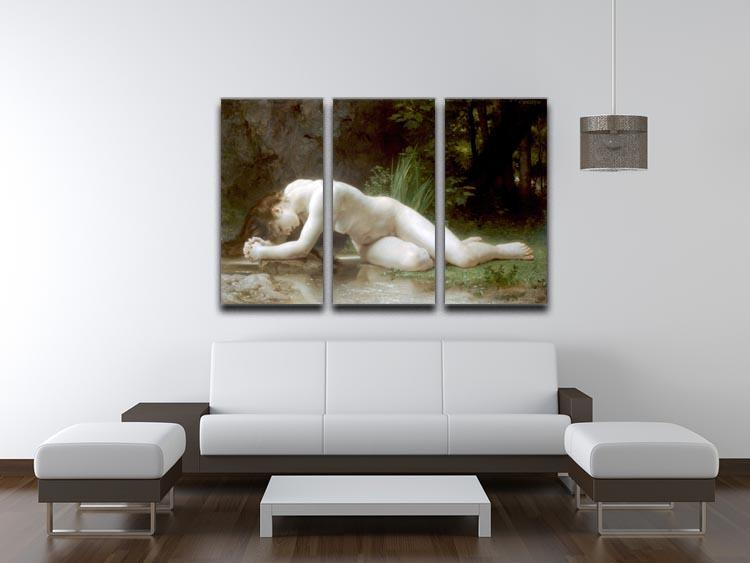 Biblis By Bouguereau 3 Split Panel Canvas Print - Canvas Art Rocks - 3