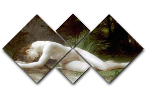 Biblis By Bouguereau 4 Square Multi Panel Canvas  - Canvas Art Rocks - 1