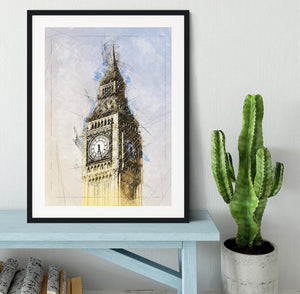 Big Ben Painting Framed Print - Canvas Art Rocks - 1