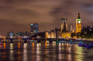 Big Ben and Westminster Bridge Wall Mural Wallpaper - Canvas Art Rocks - 1