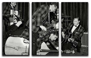 Bill Haley and The Comets going crazy 3 Split Panel Canvas Print - Canvas Art Rocks - 1