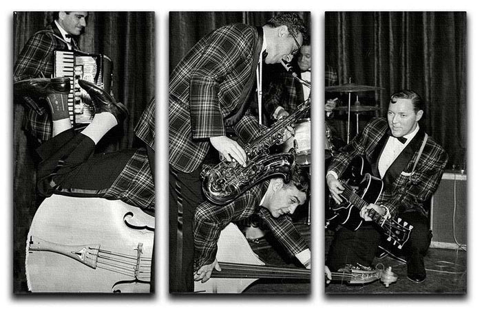 Bill Haley and The Comets going crazy 3 Split Panel Canvas Print