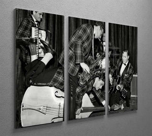 Bill Haley and The Comets going crazy 3 Split Panel Canvas Print - Canvas Art Rocks - 2