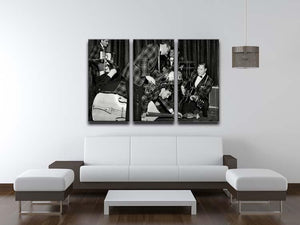 Bill Haley and The Comets going crazy 3 Split Panel Canvas Print - Canvas Art Rocks - 3