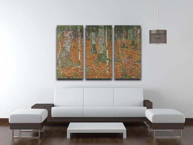 Birch Forest by Klimt 3 Split Panel Canvas Print - Canvas Art Rocks - 3