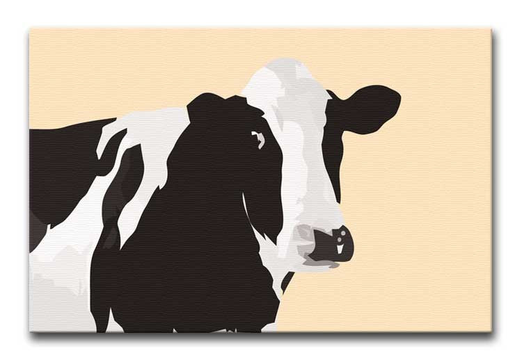 Fresian Cow Pop Art Print - Canvas Art Rocks - 1