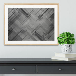 Black Chevron Background Framed Print - Canvas Art Rocks - 3