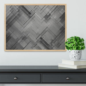 Black Chevron Background Framed Print - Canvas Art Rocks - 4