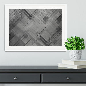 Black Chevron Background Framed Print - Canvas Art Rocks - 5