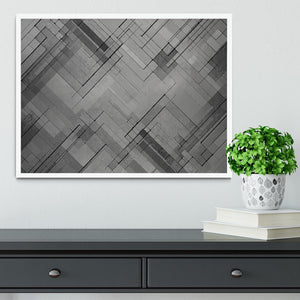 Black Chevron Background Framed Print - Canvas Art Rocks -6