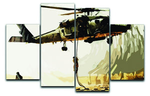 Black Hawk Down 4 Split Panel Canvas  - Canvas Art Rocks - 1