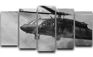 Black Hawk Helicopter 5 Split Panel Canvas  - Canvas Art Rocks - 1