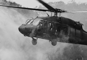 Black Hawk Helicopter Wall Mural Wallpaper - Canvas Art Rocks - 1
