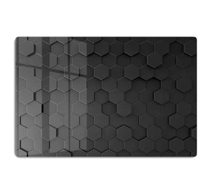 Black Hexagon Pattern HD Metal Print - Canvas Art Rocks - 1