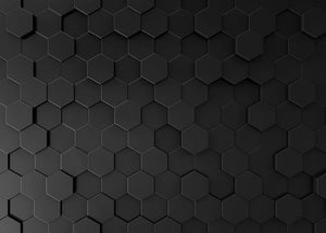Black Hexagon Pattern Wall Mural Wallpaper - Canvas Art Rocks - 1