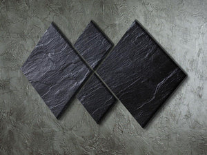 Black Textured Stone 4 Square Multi Panel Canvas - Canvas Art Rocks - 2