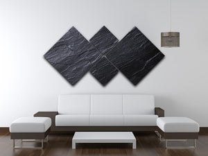 Black Textured Stone 4 Square Multi Panel Canvas - Canvas Art Rocks - 3