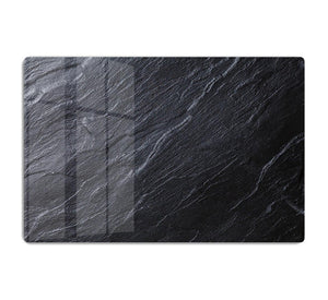 Black Textured Stone HD Metal Print - Canvas Art Rocks - 1