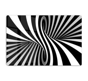 Black and White Optical Ilusion HD Metal Print - Canvas Art Rocks - 1