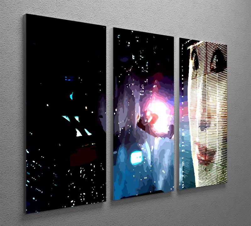 Blade Runner 3 Split Panel Canvas Print - Canvas Art Rocks - 2