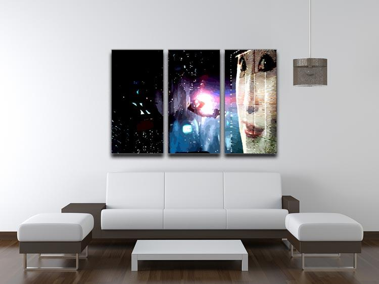 Blade Runner 3 Split Panel Canvas Print - Canvas Art Rocks - 3