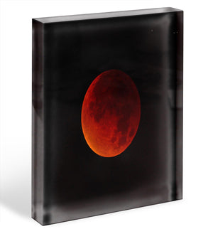Blood Moon Rising Acrylic Block - Canvas Art Rocks - 1