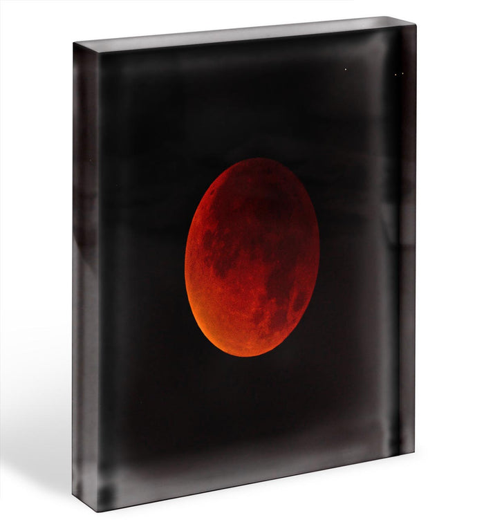 Blood Moon Rising Acrylic Block