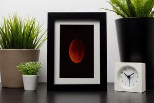 Blood Moon Rising Framed Print - Canvas Art Rocks - 1