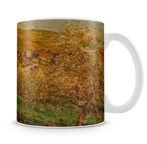 Blooming apple trees by Monet Mug - Canvas Art Rocks - 4