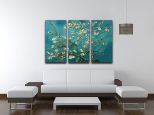 Blossoming Almond Tree by Van Gogh 3 Split Panel Canvas Print - Canvas Art Rocks - 4