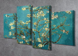Blossoming Almond Tree by Van Gogh 4 Split Panel Canvas - Canvas Art Rocks - 2