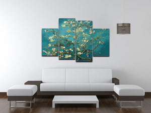 Blossoming Almond Tree by Van Gogh 4 Split Panel Canvas - Canvas Art Rocks - 3