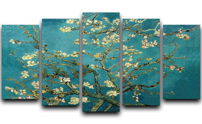 Blossoming Almond Tree by Van Gogh 5 Split Panel Canvas
