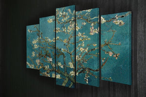 Blossoming Almond Tree by Van Gogh 5 Split Panel Canvas - Canvas Art Rocks - 2