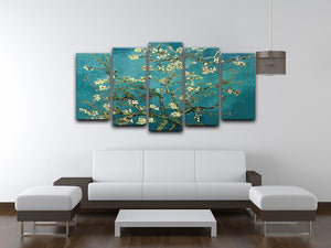Blossoming Almond Tree by Van Gogh 5 Split Panel Canvas - Canvas Art Rocks - 3