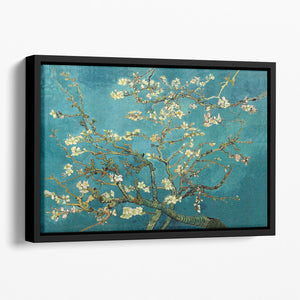 Blossoming Almond Tree by Van Gogh Floating Framed Canvas