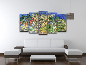 Blossoming Chestnut Branches by Van Gogh 5 Split Panel Canvas - Canvas Art Rocks - 3