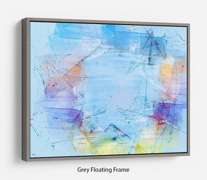 Blue Oil Painting Floating Frame Canvas