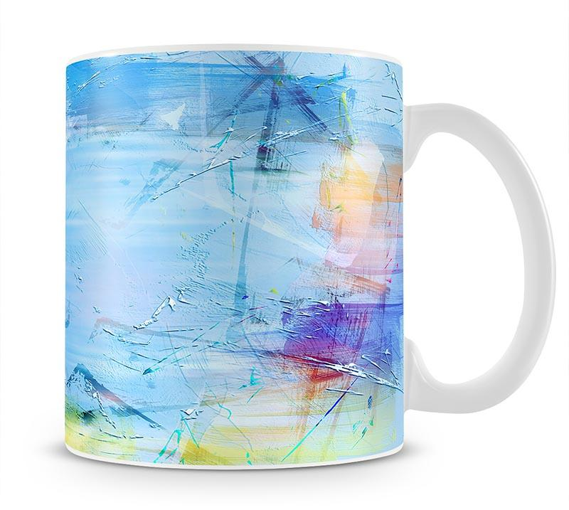 Blue Oil Painting Mug - Canvas Art Rocks - 1