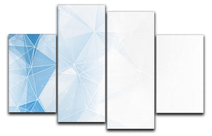 Blue Ombre Geometrical Web 4 Split Panel Canvas - Canvas Art Rocks - 1