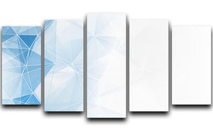 Blue Ombre Geometrical Web 5 Split Panel Canvas - Canvas Art Rocks - 1