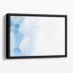 Blue Ombre Geometrical Web Floating Framed Canvas - Canvas Art Rocks - 1