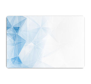 Blue Ombre Geometrical Web HD Metal Print - Canvas Art Rocks - 1